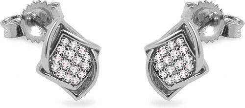 iZlato Forever Diamantové náušnice z bieleho zlata 0.100 ct Caimile KU951AN 9da764cb9cc