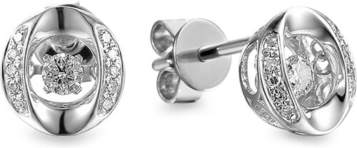 iZlato Forever Diamantové náušnice z bieleho zlata 0.180 ct Dancing  Diamonds IZBR553AN 9cc9e40bdc2