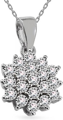 b4bc1e1e2 iZlato Design Diamantový prívesok z bieleho zlata 0.080 ct Avalee ROYBR110AP