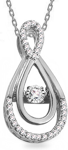 11bd07090 iZlato Design Diamantový prívesok z bieleho zlata 0.190 ct Dancing Diamonds  KU928AP