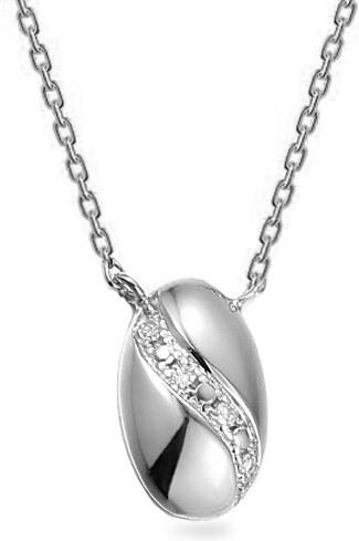 c7481da55 iZlato Forever Náhrdelník z bieleho zlata s diamantmi 0.010 ct Circeé  IZBR538A