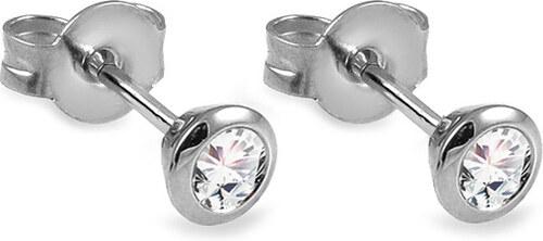 7aebaaf30 iZlato Forever Napichovací náušnice z bílého zlata s diamanty 0.250 ct  Azalea DB0127A