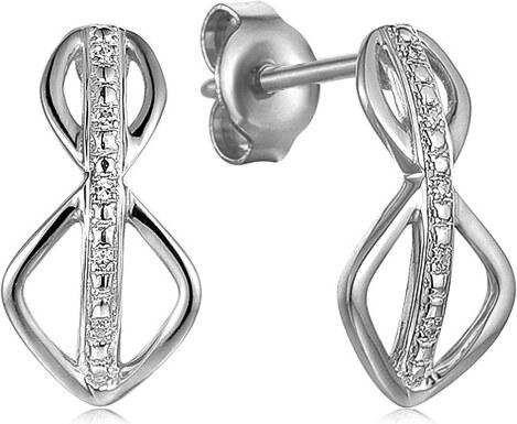 9254aadc0 iZlato Forever Náušnice z bílého zlata s diamanty 0,020 ct Muflier IZBR506A