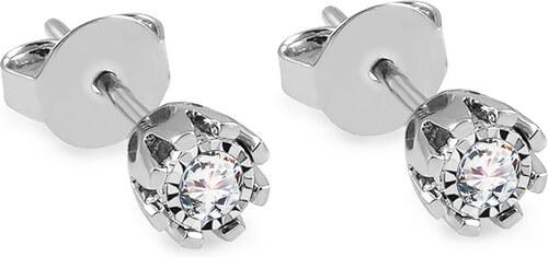 iZlato Forever Náušnice z bieleho zlata s diamantmi 0.170 ct Fiorella KU854A 0e42c4f293b