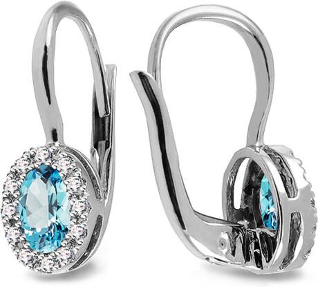 15938d06f iZlato Forever Náušnice z bieleho zlata s topásmi a diamantmi 0.100 ct  Averill ROYBR104AT