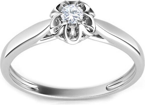 343d95367 iZlato Forever Zásnubní prsten s 0.090 ct briliantem Crown white CSBR07A