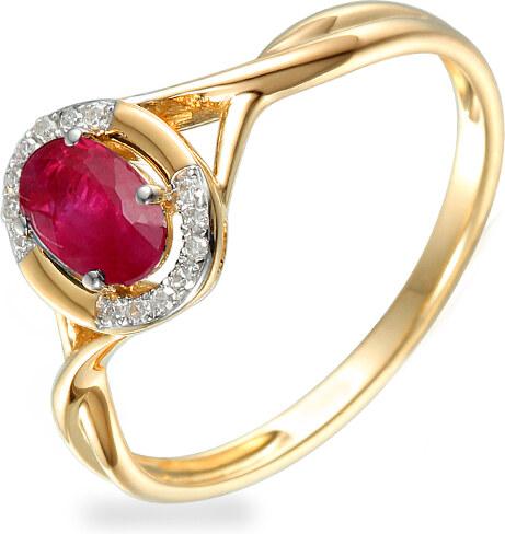 iZlato Forever Zásnubný prsteň s rubínom a diamantmi 0.040 ct Kesidy 3  IZBR472R d9aa0292247