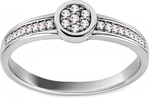 499e34452 iZlato Forever Zásnubný prsteň z bieleho zlata s diamantmi 0.060 ct Charis  KU705A