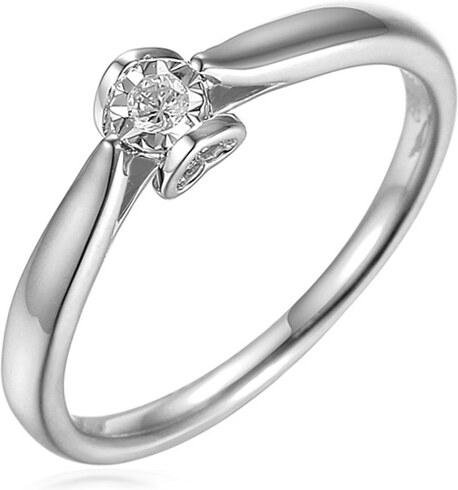 196fb697c iZlato Forever Zásnubný prsteň z bieleho zlata s diamantmi 0.060 ct Layra 2  IZBR517AM
