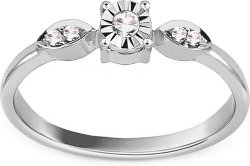 6dcd270e0 iZlato Forever Zásnubný prsteň z bieleho zlata s diamantmi 0.030 ct  Berenice VKBR005A