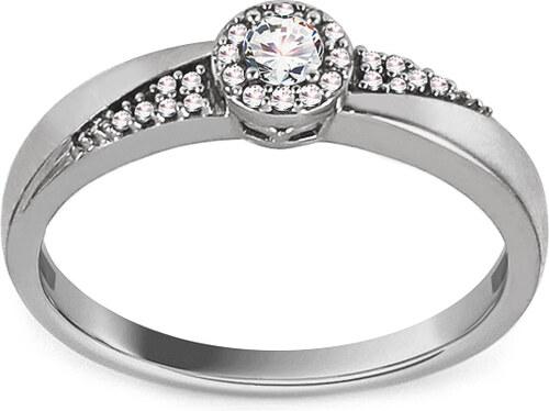 5814e04b8 iZlato Forever Zásnubný prsteň z bieleho zlata s diamantmi 0.140 ct Kalea  KU791A