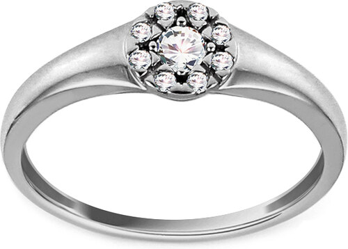 e30ec1aea iZlato Forever Zásnubný prsteň z bieleho zlata s diamantmi 0.150 ct Naira  KU799A