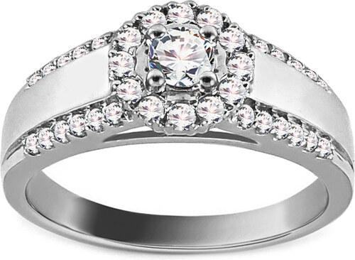 9187260d2 iZlato Forever Zásnubný prsteň z bieleho zlata s diamantmi 0.610 ct Tailyn  ROYBR003A