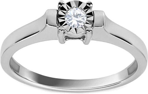 0b6c1b307 iZlato Forever Zásnubný prsteň z bieleho zlata s diamantom Clarice KU537A