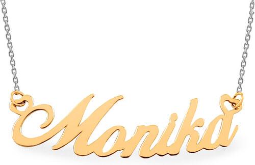 iZlato Design Zlatá kombinovaná retiazka s menom Monika IZ7579YW ... 773fdfeb4d4