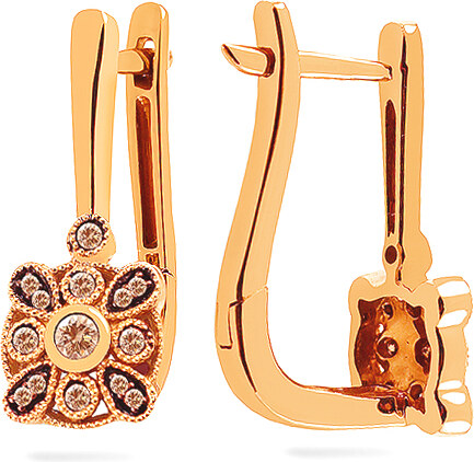 0f6f0ae31 -12% iZlato Forever Zlaté náušnice so champagne diamantmi 0.210 ct KU1085