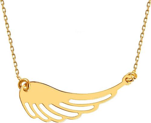 a283b57a4 iZlato Forever Zlatý náhrdelník Celebrity Andělské křídlo IZ12046 ...