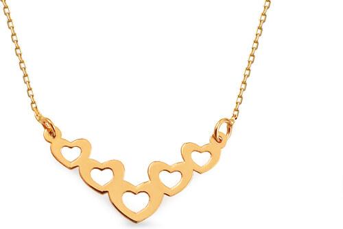 dc13b8f03 iZlato Forever Zlatý náhrdelník Celebrity srdíčka IZ13239 - Glami.cz