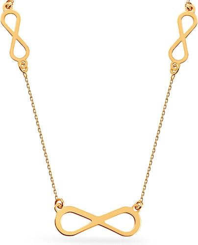 91f880eb1 iZlato Forever Zlatý náhrdelník s přívěsky nekonečno Celebrity IZ15611
