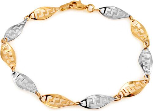 9a283f01e iZlato Forever Zlatý náramok s antickým vzorom IZ11152 - Glami.sk