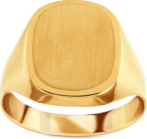 iZlato Forever Zlatý pánsky pečatný prsteň s matovaním Celso IZ14907 ... b8812b12cf9