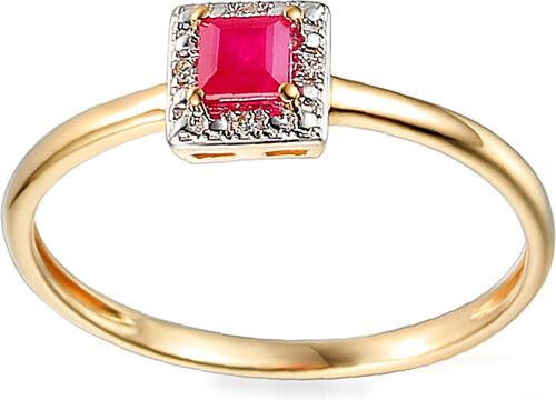 iZlato Forever Zlatý prsteň s rubínom a diamantmi 0.010 ct Lupe IZBR584R 1812b810cf0