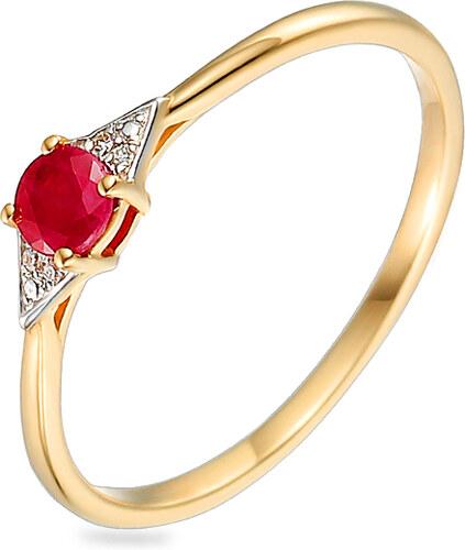 iZlato Forever Zlatý prsteň s rubínom a diamantmi 0.010 ct Yasma 3 IZBR585R dfb625fe9ac