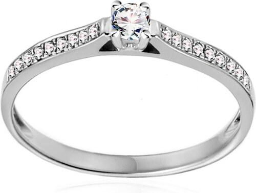 1fe4d16b1 iZlato Forever Zlatý zásnubní prsten s diamanty 0,150 ct Adel white IZBR404A