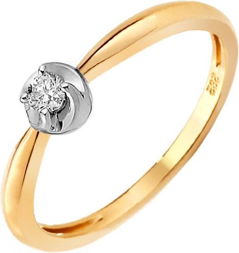 d393d0bc5 iZlato Forever Zlatý zásnubný prsteň s diamantom Adreana IZBR263 ...