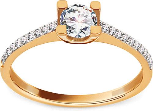 cf2f0ac5b iZlato Forever Zlatý zásnubní prsten se zirkony Jodie IZ13672 - Glami.cz