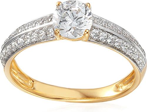 e513e6883 iZlato Forever Zlatý zásnubní prsten se zirkony Norra IZZR026 - Glami.cz
