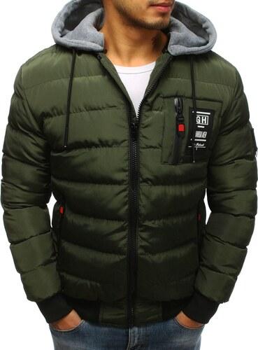 Štýlová zelená bunda s kapucňou - Glami.sk 784ab7e5bd3