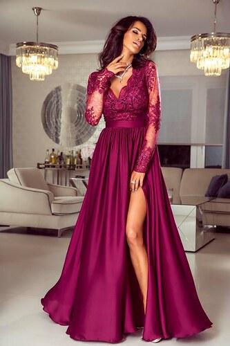 EMO Dámské večerní šaty Leila bordó XL - Glami.cz d04d14fcd1e