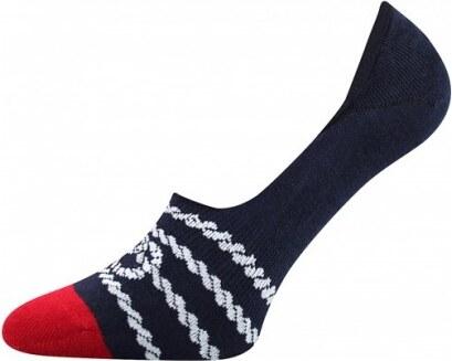 Quentino Tmavě modro červené pánské nízké ponožky PROVAZ - Glami.cz 120f15eb22