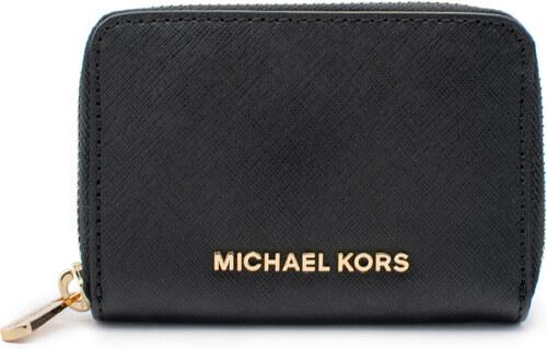 Michael Kors Jet Set Travel Saffiano Leather ZA Pouzdro na karty černé d091d5b6373