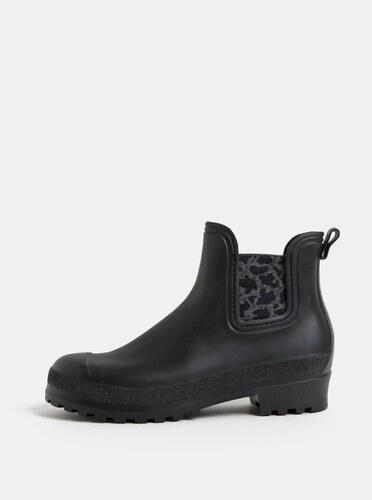 Čierne gumové chelsea topánky so vzorom OJJU - Glami.sk b65169e0ea5