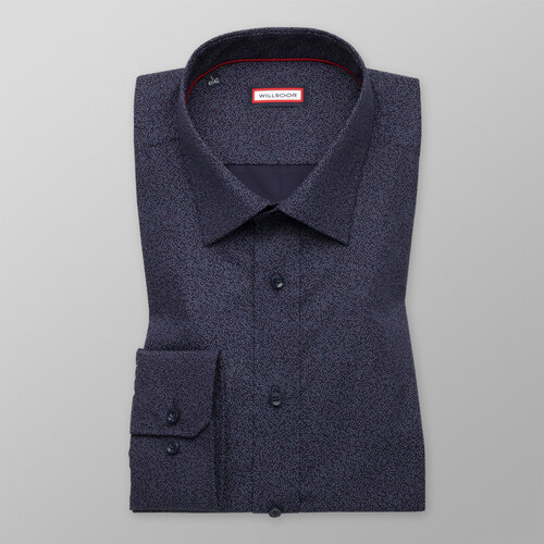 be6f016f86e8 Willsoor Pánska košeľa slim fit tmavo modrá 9995 - Glami.sk