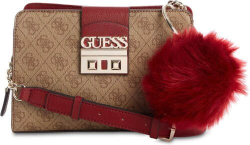 GUESS Logo Luxe Girlfriend Crossbody Brown Gold - Glami.cz bc0f4aa411f