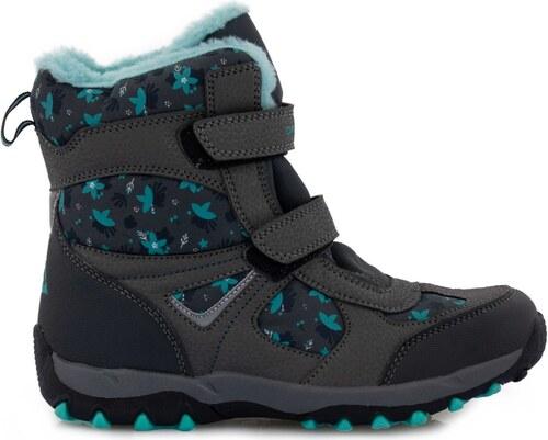 ALPINE PRO Dívčí zimní boty Wano - černo-tyrkysové - Glami.cz 25db9401e4