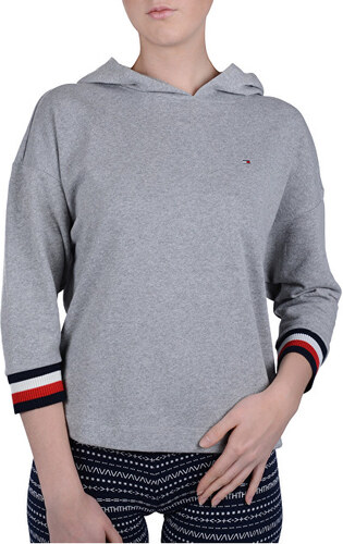-14% Tommy Hilfiger Dámska mikina Modern Stripe Terry Hoody Bat Slv Grey  Heather UW0UW01273-004 077e2371d08