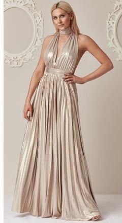 21b0171cc7b City Goddess Šaty Gold Rain z kolekce Stephanie Pratt