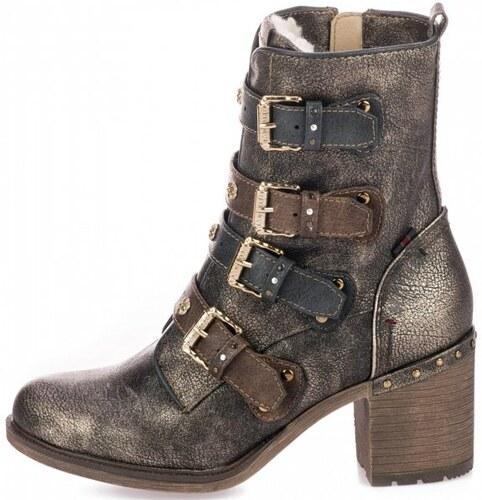 -25% Mustang dámská kotníčková obuv 36 hnědá 4003865714