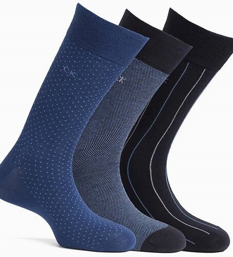 5f16ee02209 Calvin Klein modrý dárkový 3 pack pánských ponožek - 40-46 - Glami.cz