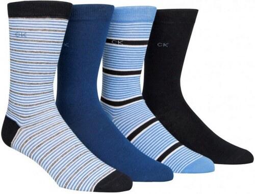 e481435932a Calvin Klein modrý dárkový 4 pack pánských ponožek - 40-46 - Glami.cz
