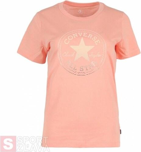90991eb100 CONVERSE - tričko KR Clear Foil Chuck Patch C Tee rose pink Velikost ...
