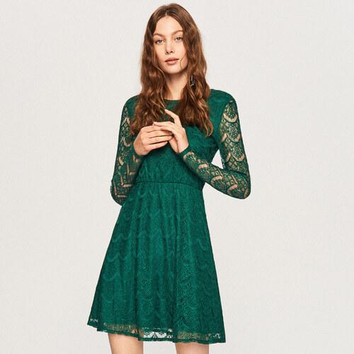 Reserved - Čipkované šaty - Tyrkysová - Glami.sk 13925ce32e3
