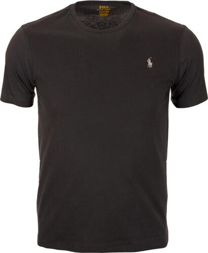 cef99f6764 Pánské klasické černé tričko RALPH LAUREN Custom Slim Fit - Glami.cz