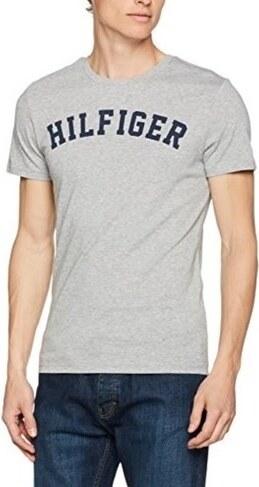2138a16fb0 Tommy Hilfiger Pánske tričko Cotton Icon SS Tee Logo UM0UM00054 -004 Grey  Heather