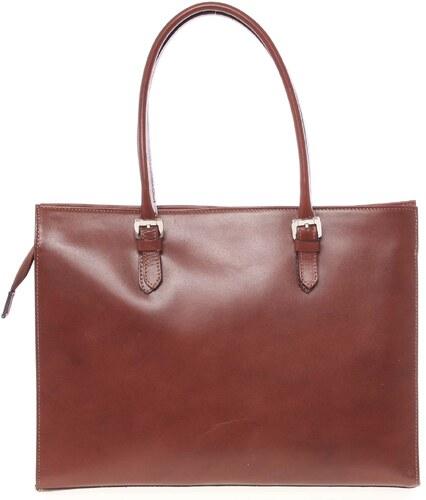 a75fc4c6f8f4 Moderná a elegantná dámska kožená kabelka béžová - ItalY Madelia hnedá