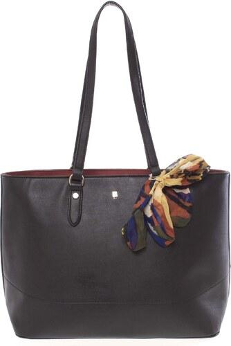 39e1116b5805 -10% Elegantní prostorná černá dámská kabelka přes rameno - David Jones  Abdera černá